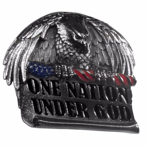 one nation under god metal trailer hitch cover
