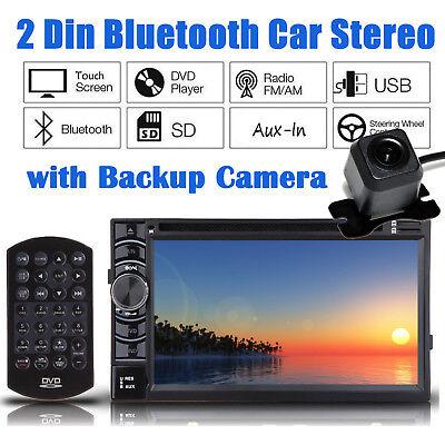 6.2'' 2 DIN Bluetooth Car Stereo CD DVD Radio FM/MP4/USB/AUX WIth Backup Camera