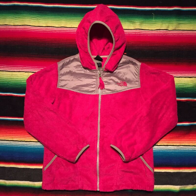 The North Face Osito Hoodie Girls Size XL Pink Zip Up Fuzzy