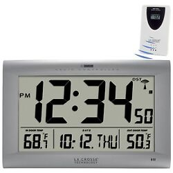 513-1311OTN La Crosse Technology Large Atomic Digital Wall Clock with KW9177T