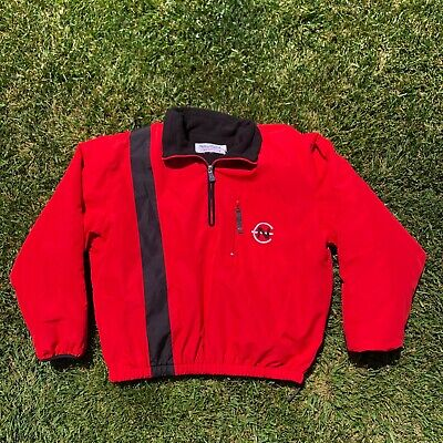 Vintage NAUTICA Competition 90's Men's Puffer Windbreaker Jacket Red Size Large