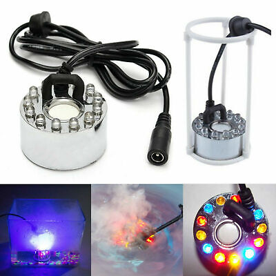 12-LED Ultrasonic Mist Maker Fogger Water Fountain Pond Atomizer Air Humidifier