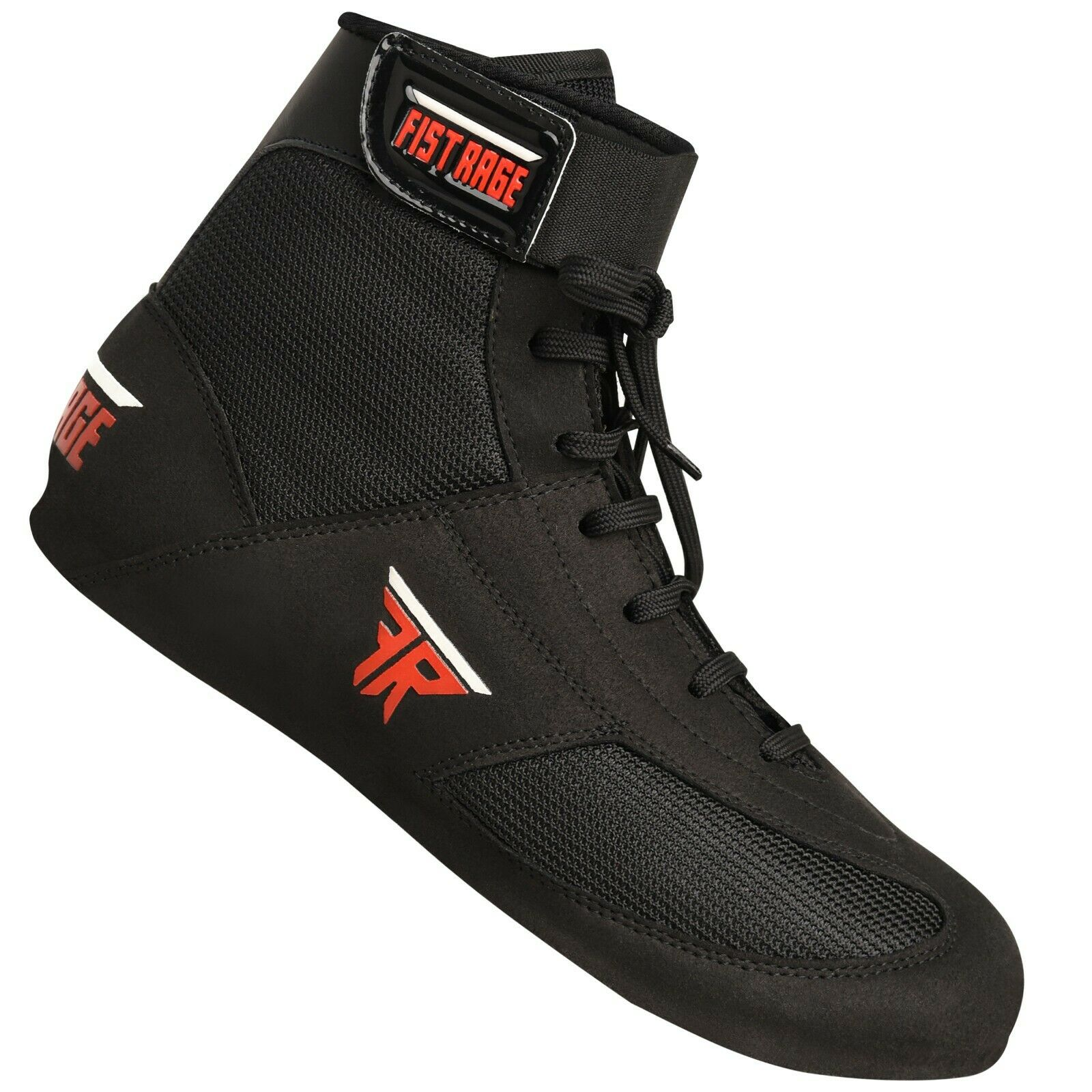 как выглядит FISTRAGE Leather Kick Boxing Shoes Fighting Sports Master Training Mesh Unisex фото