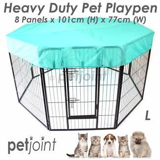HeavyDuty Pet PlayPen Puppy Dog Fencing Cage Enclosure Kennel Run