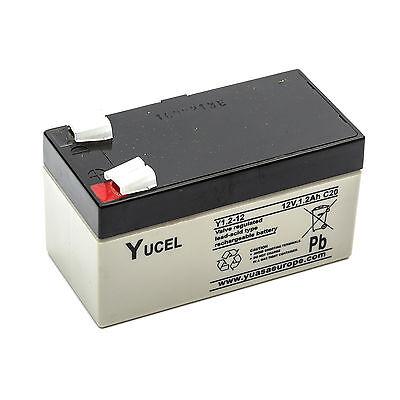 Yuasa NP1.2-12 Yucel Y1.2-12 SLA Sealed Lead Acid Battery 12V 1.2Ah Rechargeable