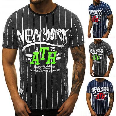 T-Shirt Kurzarm Shirt Mit Motiv Rundhals Mit Aufdruck Herren OZONEE HFM/017