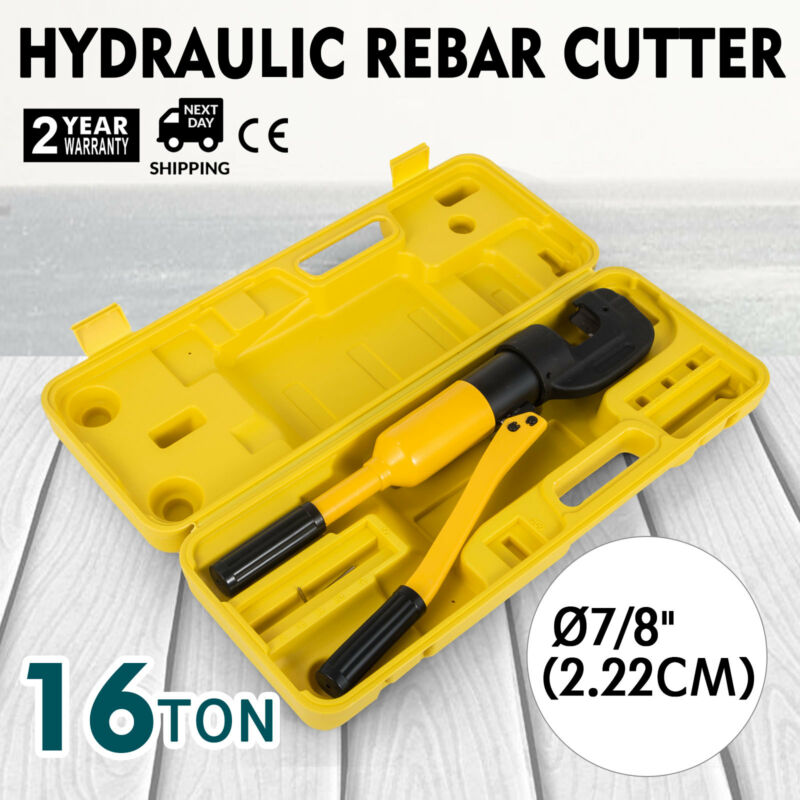"Handheld Hydraulic Rebar Cutter Concrete Construction Tool (7/8"", 16 Ton) G-22"