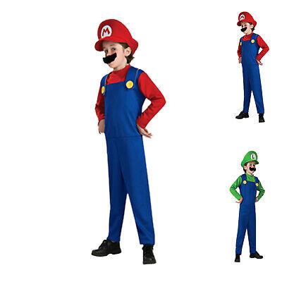 Karneval Jungen Mädchen Super Mario Luigi Brothers Klempner - Super Mario Kostüme Mädchen
