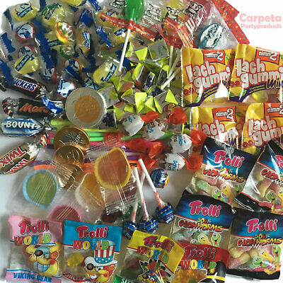100 Süßigkeiten für Mitgebsel Kindergeburtstag + Pinata Füllung + Schultüte