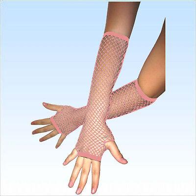 Fingerlose Netzhandschuhe PINK Abendgarderobe Netz Handschuhe Handschuh
