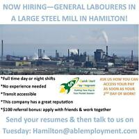 LOCAL STEEL MILL HIRING WORKERS! APPLY NOW!