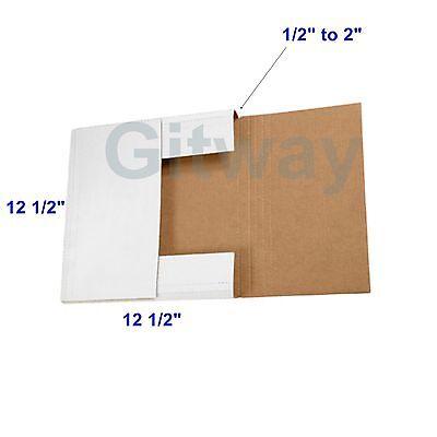 12.5 X 12.5 X 2 Multi Depth Cardboard Lp Album Record Mailer Ship Boxes 50 Pcs