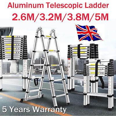 Heavy Duty Multi Purpose Aluminium Telescopic Ladder Folding Extendable Step
