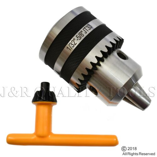"5/8"" REPLACEMENT DRILL CHUCK FOR DRILL PRESS JT33 JT 33 JACOBS TAPER"