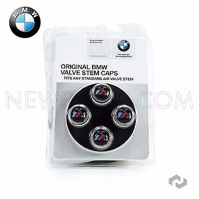 BMW Genuine M Logo Tire Valve Stem Cap Set Caps NEW Original Set of 4