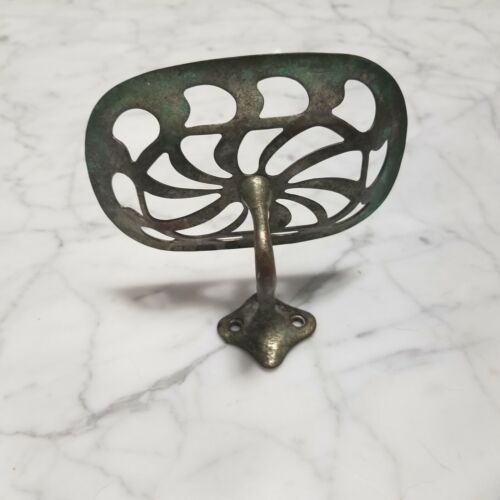 Antique Nickle Plated Brass Wall Mounted Soap Dish
