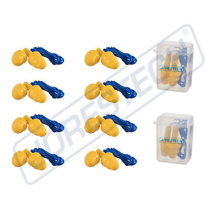 10 Pcs Soft Silicone Ear Plug Reusable Hearing Protection Earplug With Corded