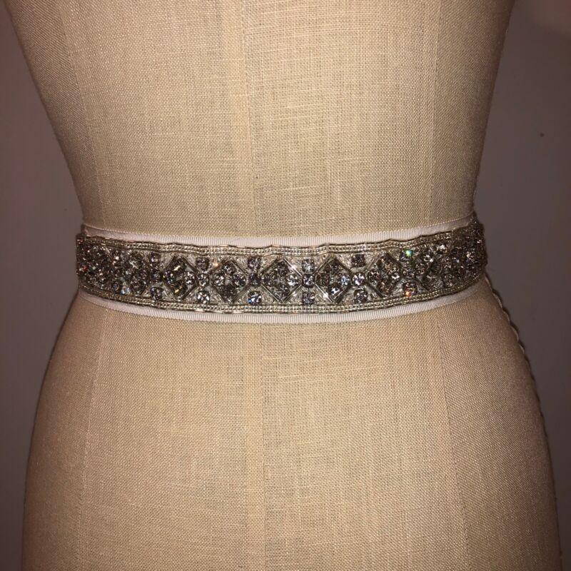 Carolina Herrera bridal sash absolutely stunning