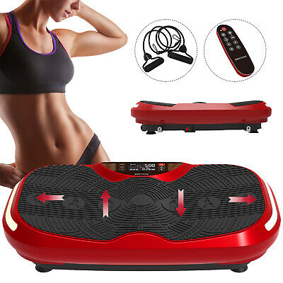 "30"" Full Body Fitness 3D Vibration Plate Platform Exercise Machine w/ Straps RC"