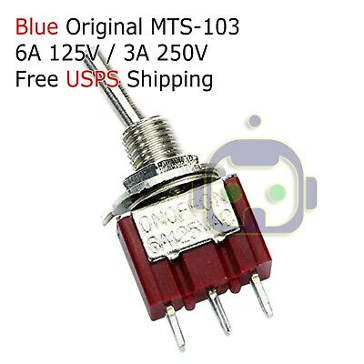 1 Spdt Mini Toggle Switch On-off-on Pcb-mount High Quality... Usa Seller