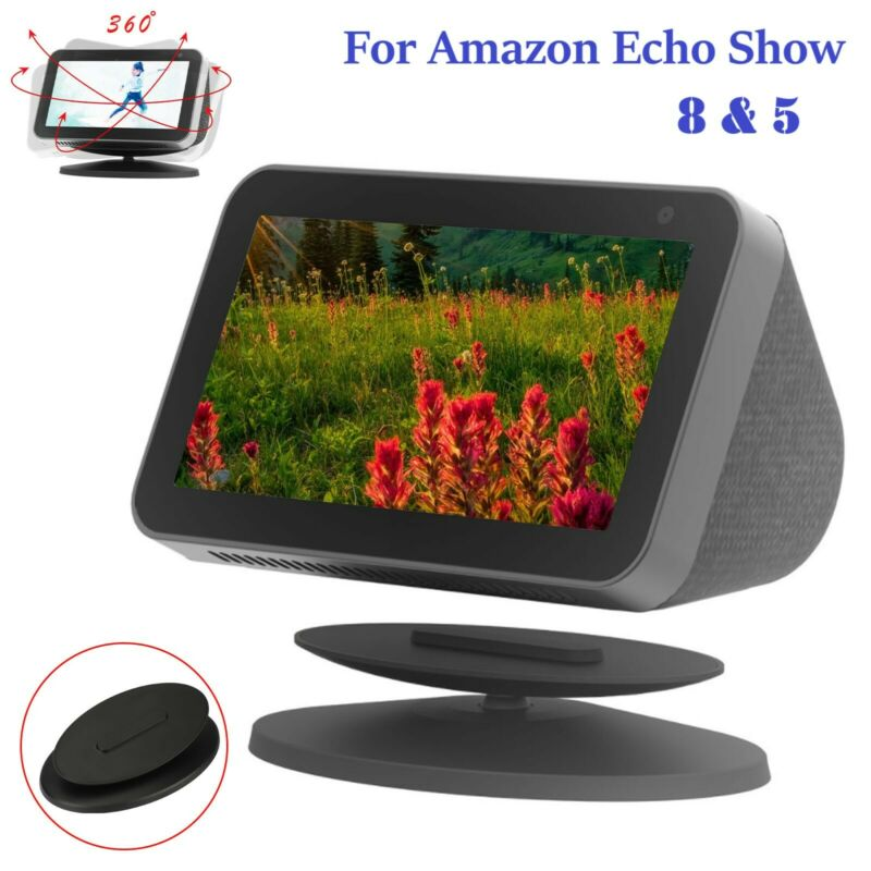 New Magnetic Speaker Docks 360°Adjustable Tilting Stand for Amazon Echo Show 5/8