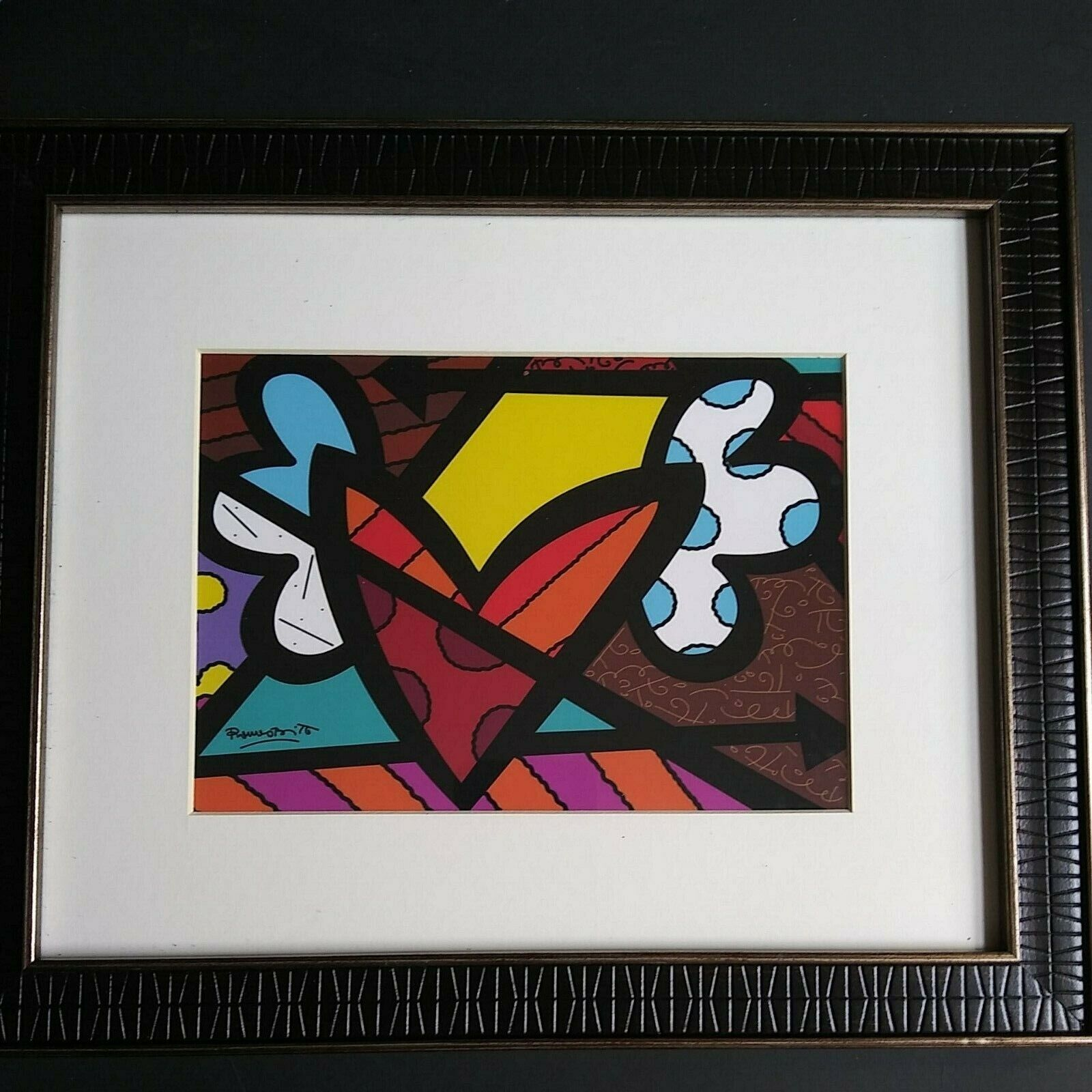 Romero Britto Free Love Pop Art Framed - $23.00