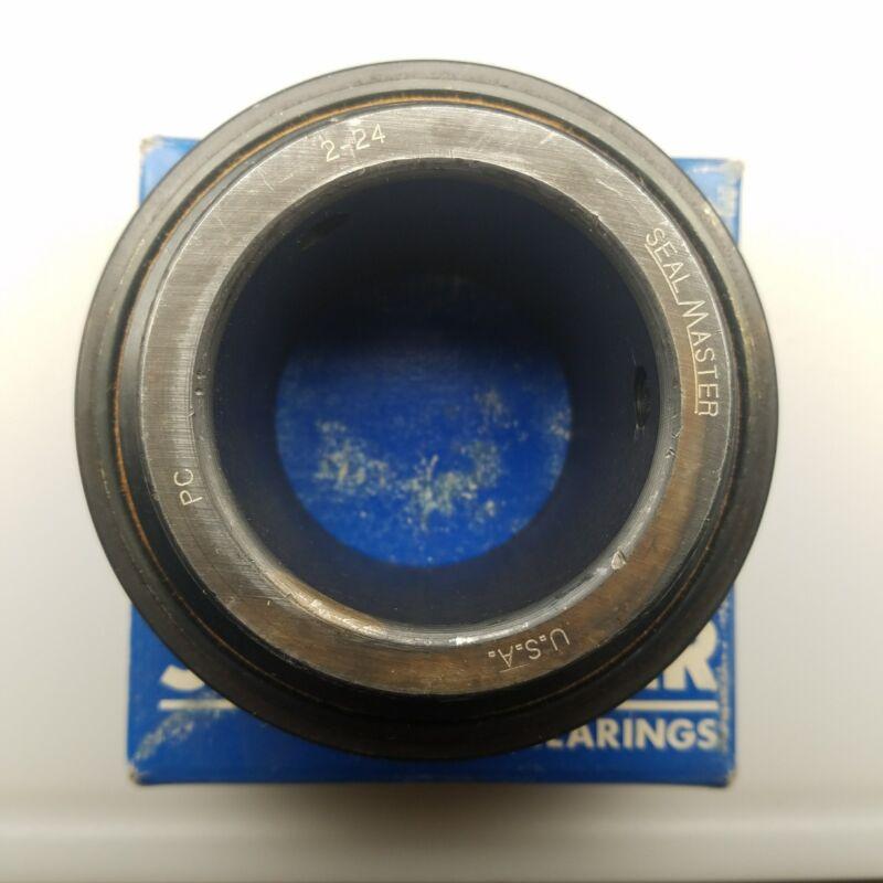 "Sealmaster, 2-24, Insert Bearing, 2.25"" Diameter, Setscrew Locking, Felt"