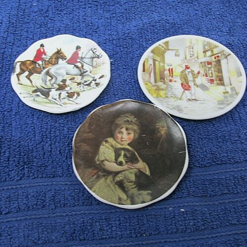 3 VINTAGE BUTTER PATS MADE IN ENGLAND BONE CHINA