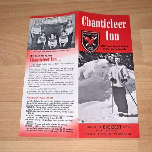 Vintage CHANTICLEER INN, EAGLE RIVER WISCONSIN Brochure
