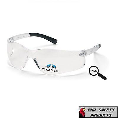 Pyramex Ztek Reader Clear Bifocal Safety Glasses 1.50 Magnification S2510r15