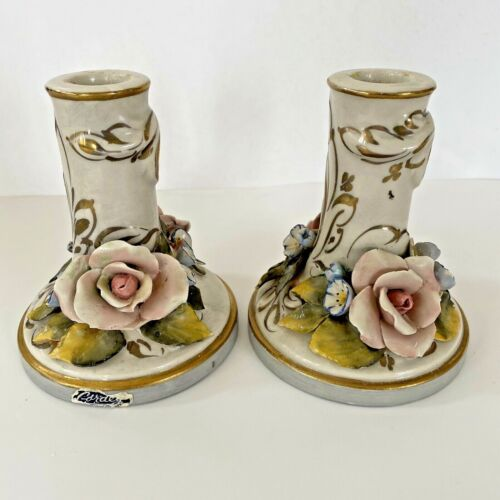 Vintage Pair of Cordey Candlesticks - Candle Holders - Lot of 2