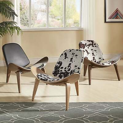 Pascal Mid-Century Faux Leather Shell Chair by iNSPIRE Q