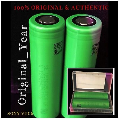 2 Sony 18650 VTC6  3000mAh 30A / 15A DISCHARGE 3.6V RECHARGEABLE BATTERY