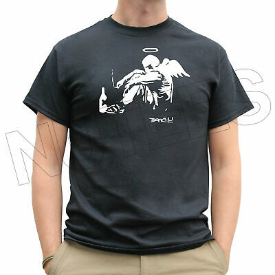Banksy Fallen Angel Stencil Graffitti Mens Ladies T-Shirts Tank Top Vests S-XXL