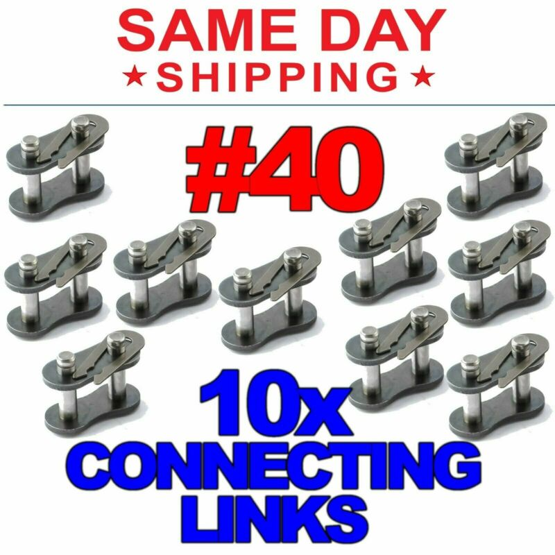 #40 Roller Chain Connecting Links (Lot of 10)