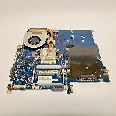 Acer Aspire 5515 Laptop Motherboard Rev 1.0 KAW60 L01 W/ AMD CPU Heat Sink & Fan