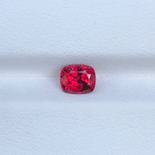 0.80 CT RED SPINEL NATURAL CUSHION CUT CERTIFIED GEMSTONE