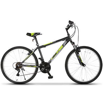 26'' Mountain Bike Hybrid Bike 18 Speed Front Suspension Bicycles Shimano Yellow