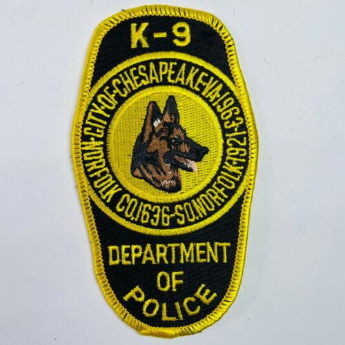 Chesapeake Police K9 Canine Unit Virginia VA Patch (A7)