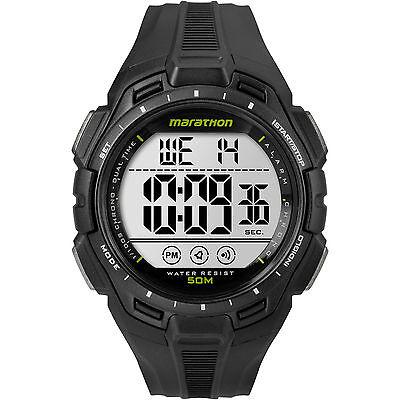 Timex TW5K94800, Men's Marathon Black Resin Watch, Indiglo, Alarm, Chronograph