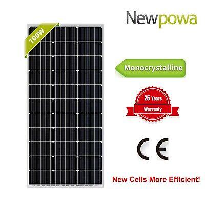 Grid Kit - Newpowa 100W Watts 12V Monocrystalline Solar Panel Off Grid Kit for RV Marine