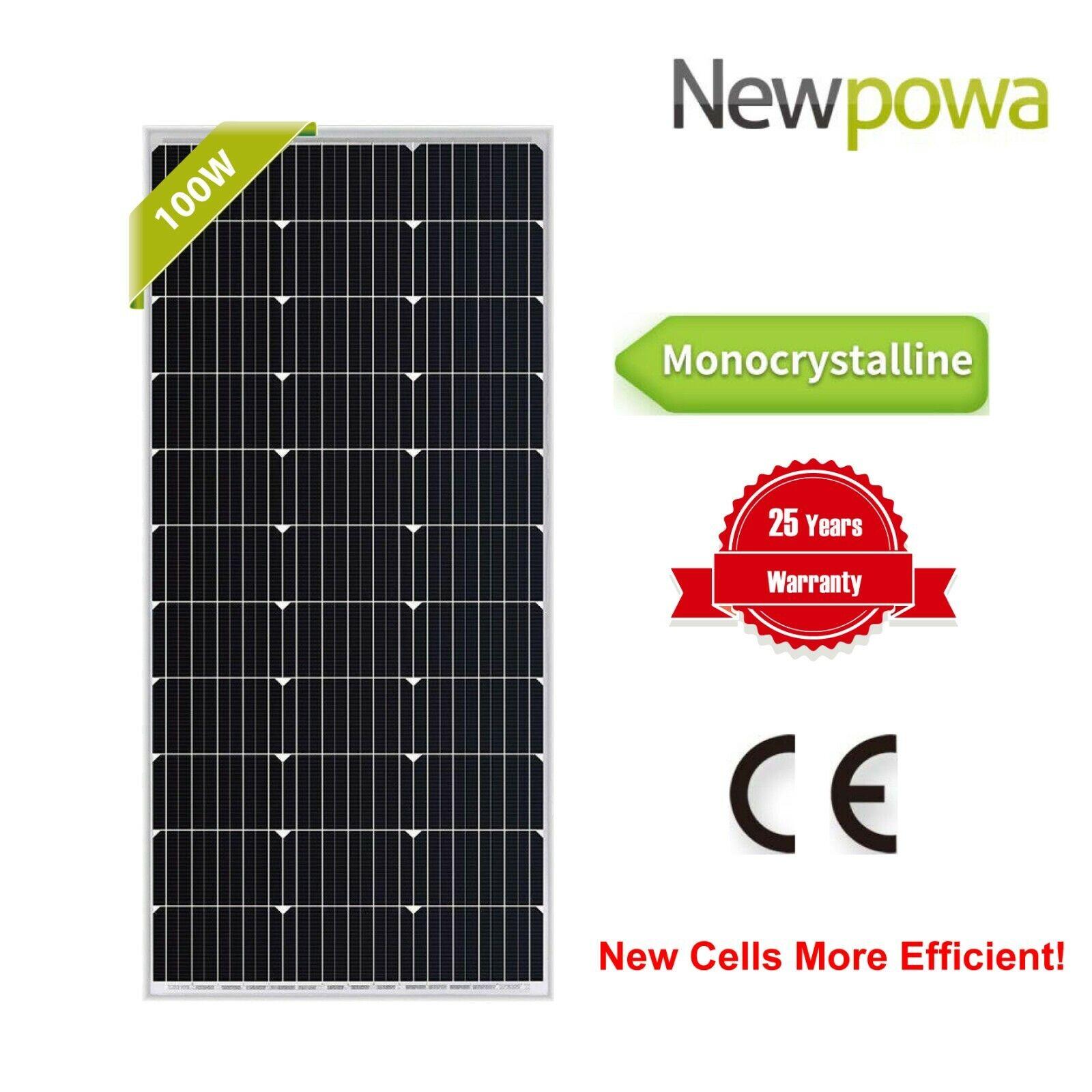 Newpowa 100W Watts 12V Monocrystalline Solar Panel Off Grid