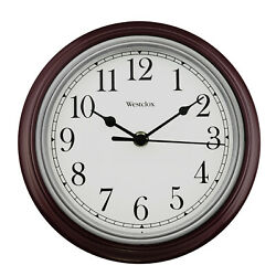 Westclox 9 Inch Burgundy Round Simplicity Wall Clock