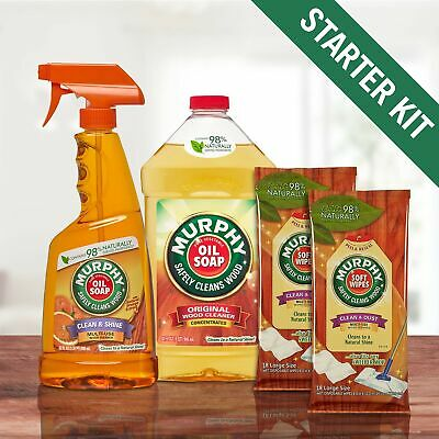 Brand New Murphy's Oil Soap Wood Cleaner Kit for Floors and