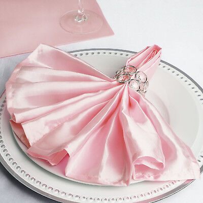 10 BLUSH Silky SATIN 20x20