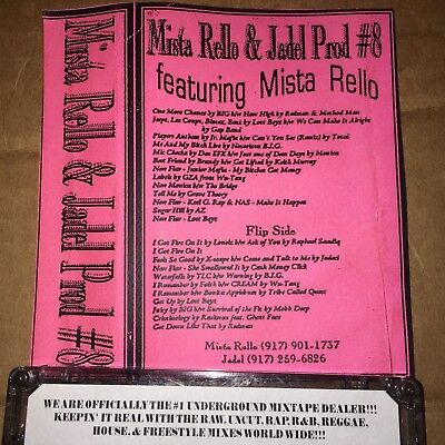 DJ Mistarello & Jadel Tape #8 RARE 90s NYC Blends Hip Hop CASSETTE Mixtape Tape