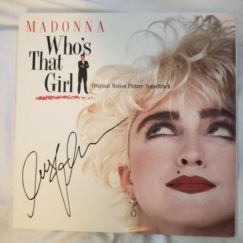 MADONNA signed vinyl album WHO