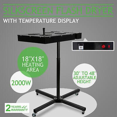 18x18 Flash Dryer Silk Screen Printinng Curing Ink T-shirt Adjustable Stand