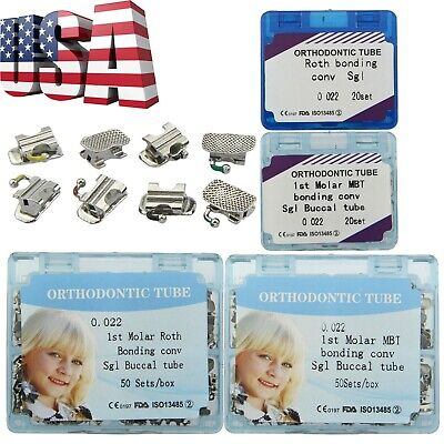 Us 2050 Set Dental Orthodontic Buccal Tube First Molar Convertible Mbt Roth 022