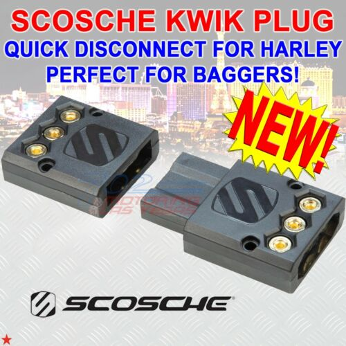 QUICK DISCONNECT AMPLIFIER POWER / GROUND / ACC. PLUG PERFECT FOR BAGGERS NEW!